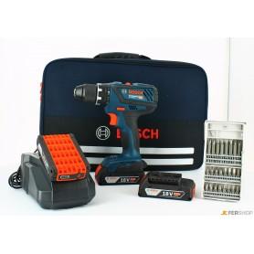 Drill driver bosch - gsr18v-28 - 3x2,0ah + al1820 cv