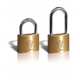Padlock ft italy classic - mm.25 long bow - brass