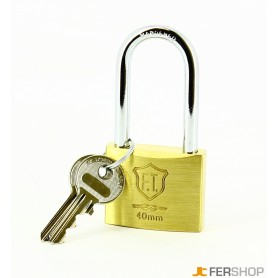 Padlock ft italy classic - mm.40 long shackle - brass