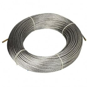 Steel rope 133 wires - dia. 5 x 15 mt. - roll