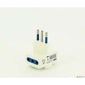 Triple adapter FAEG - fg20505 - 10a-white