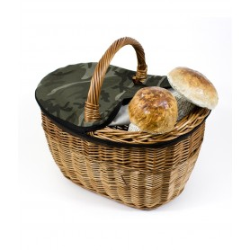 Basket mushrooms wicker with bow - mod. Dutch - c/cover