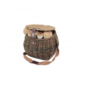 Basket mushrooms wicker dark - mod. lux -