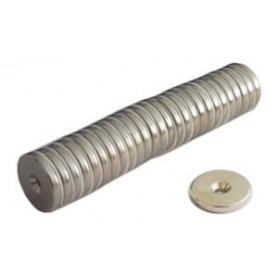 Magnet button - c/the hole - neodim d.20 - kg.30