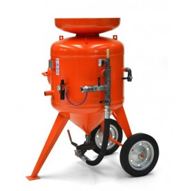 Sand-blasting machine cb 215 litres - remote control - with kit 10 mt + helmet